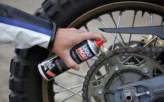 Чистка, смазка и обслуживание цепи мотоцикла