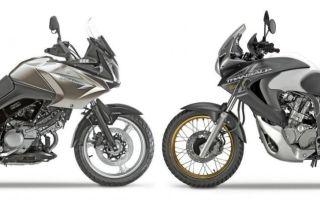 Б/у мотоциклы: Honda Transalp 700 vs Suzuki V-Strom 650