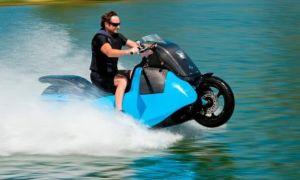 Мотоцикл — амфибия Biski, что он может сделать!