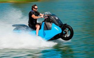 Мотоцикл – амфибия Biski, что он может сделать!