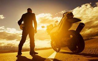 Езда на мотоцикле в жаркую погоду