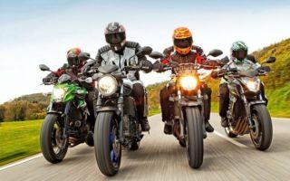 Средний класс японцев – Honda CB 650, Kawasaki ER-6n, Yamaha MT-07 и Suzuki SV 650