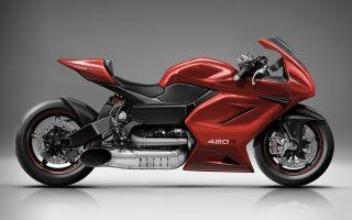 Marine Turbine – мотоцикл, приводимый в движение воздушной турбиной!