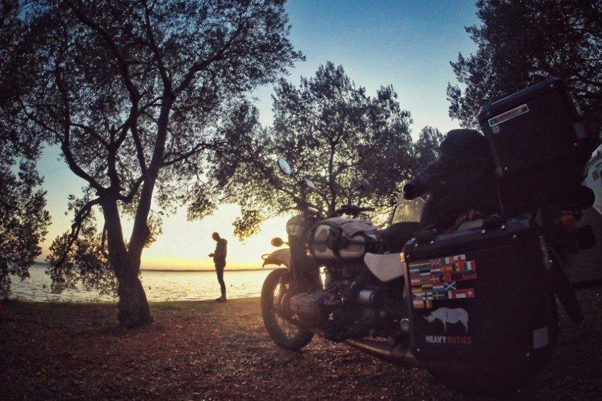 на мотоцикле по Европе