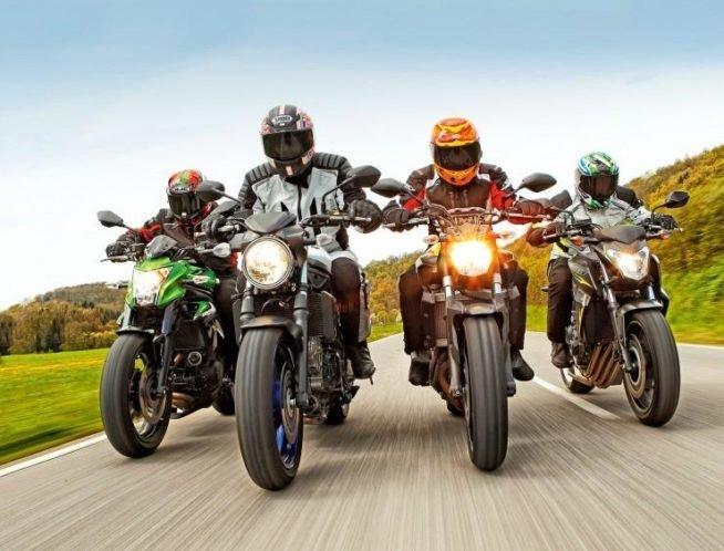 Honda CB 650, Kawasaki ER-6n, Yamaha MT-07 и Suzuki SV 650