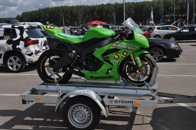 перевозка мотоцикла на прицепе