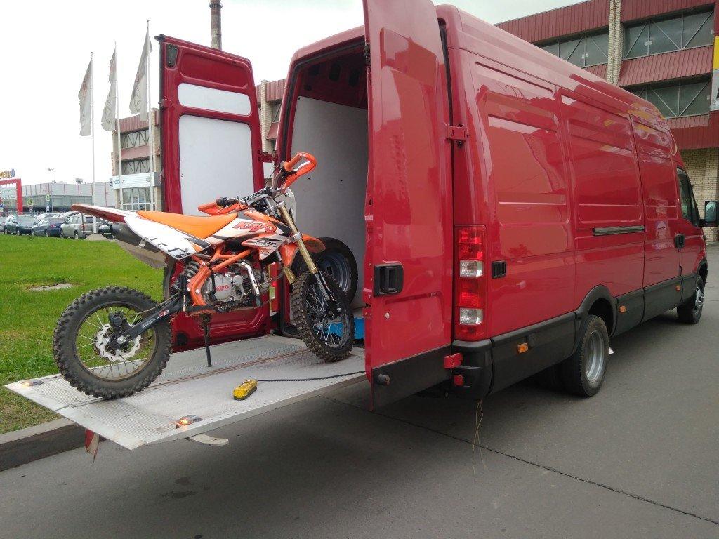 перевозка мотоцикла в автобусе